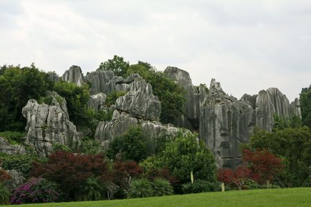 the humanities landscape: stone forest scenery,yunnan,china