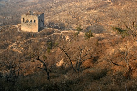 north china: the original ecology of the great wall in north china Stock Photo