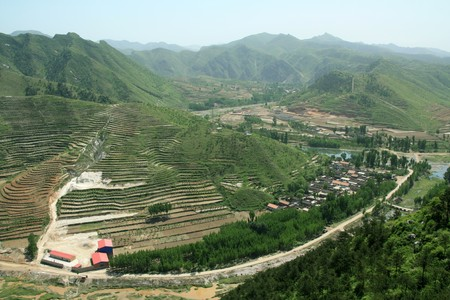 north china: village scenery in north china