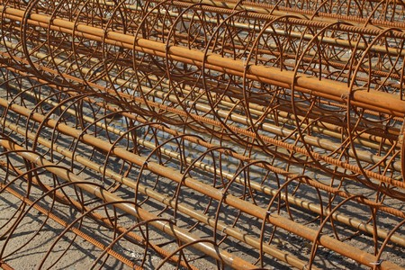 steel bars construction materials stacked together Stock Photo - 7048658