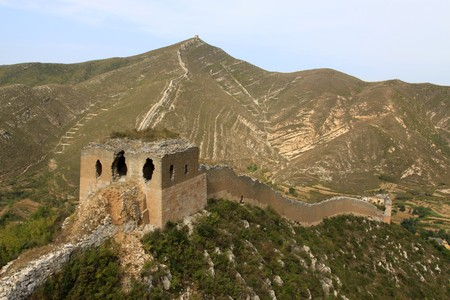 the original ecology of the great wall in north china Stock Photo - 7114450