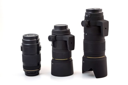 close up of camera lens, advanced photo equipment photo