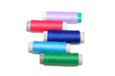 close up of color thread spool in white background Stock Photo - 7132827