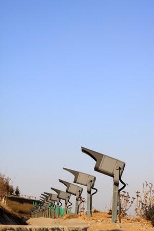 abatjour: Close up of searchlight, in un attrazioni, Tangshan city, provincia di Hebei, Cina. Archivio Fotografico
