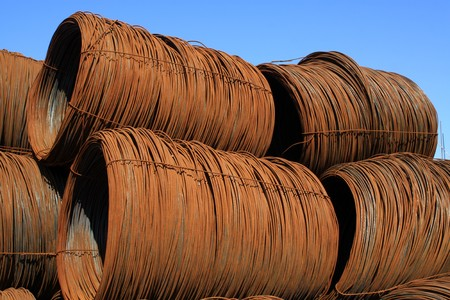 close up of construction metal templates, in a construction site, North China. Stock Photo - 7240466