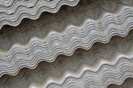 asbestos: close up of asbestos tile, Luannan County, Hebei Province of China.