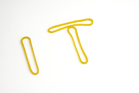 rubber bands on a white background, close up of pictures. photo
