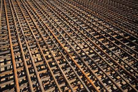 steel bars construction materials, in a construction site, North China. Stock Photo - 7400745