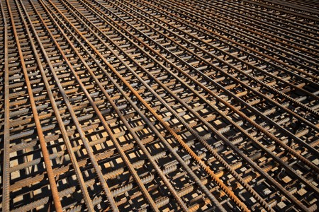 steel bars construction materials, in a construction site, North China. Stock Photo - 7400765