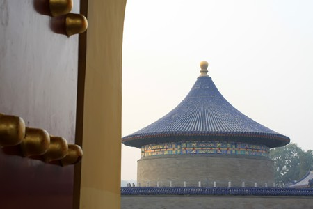 the scenery of temple of heaven in beijing,china.