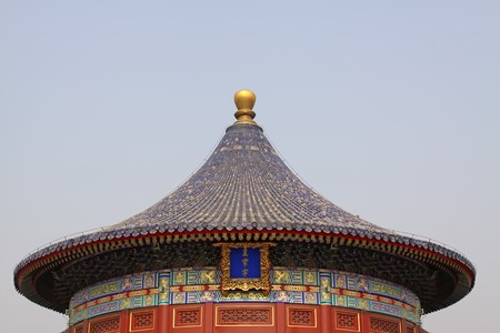 the scenery of temple of heaven in beijing,china. photo