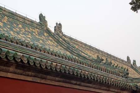 rafter: the roof in temple of heaven in beijing,china.