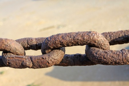 close up of iron chain photo