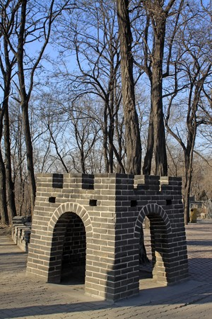 brick walls, the Great Wall, in Tangshan cities Hill Park, Hebei Province, China,2009. Stock Photo - 7475993