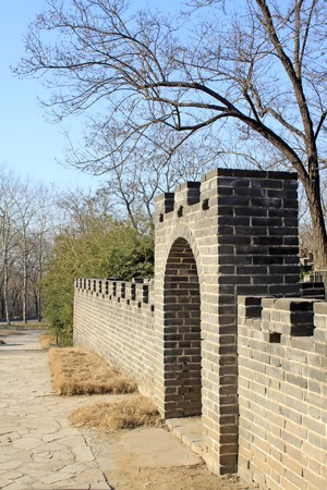 brick walls, the Great Wall, in Tangshan cities Hill Park, Hebei Province, China,2009. Stock Photo - 7475956