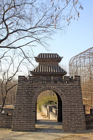 brick walls, the Great Wall, in Tangshan cities Hill Park, Hebei Province, China,2009. Stock Photo - 7475770