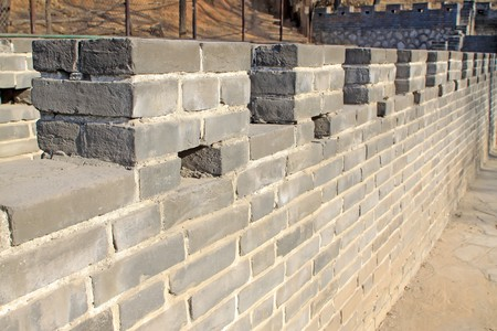 brick walls, the Great Wall, in Tangshan cities Hill Park, Hebei Province, China,2009. Stock Photo - 7475573