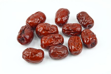 close up of jujube in white background