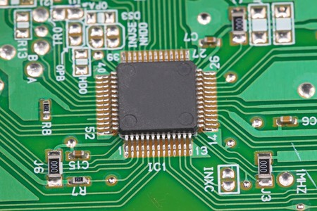circuitos electronicos: Close up de placas de circuitos impresos  Foto de archivo