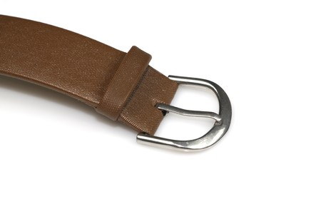 close up of a leather watch band on a white background Stock Photo - 7529076
