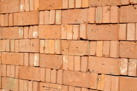 red brick, construction materials creative picture rural north china