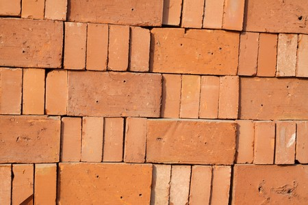 protection of arable land: red brick, construction materials creative picture rural north china