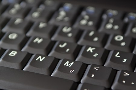 close up of laptop keyboard photo