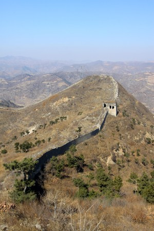 the original ecology great wall in winter, desolate and rugged, north china. Stock Photo - 7549122