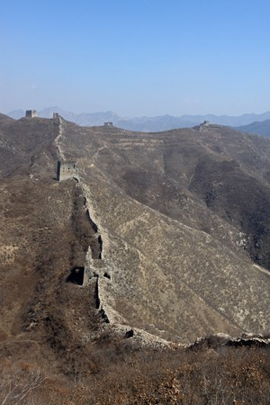 the original ecology great wall in winter, desolate and rugged, north china. Stock Photo - 7549075