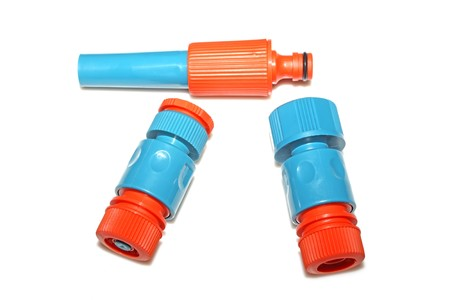 plastic pipe: plastic pipe fittings in a white background, close up of pictures.