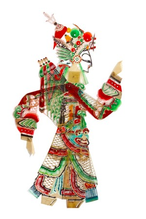 folk art: shadow craft works traditional oriental culture