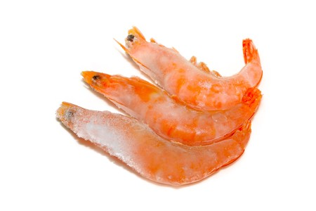 close up of frozen shrimp, north china, a kind of food Stock Photo - 7588260