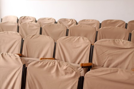 close up of seats in a hall. photo