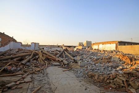 city demolition site in north china. photo