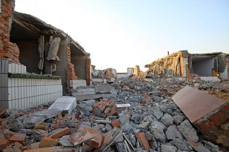 city demolition site in north china.