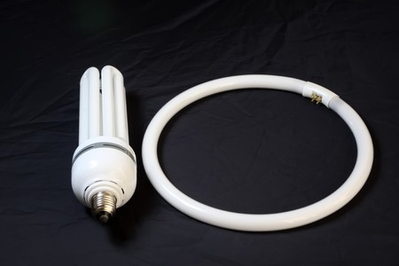 fluorescent tubes: fluorescent tubes on a black background.