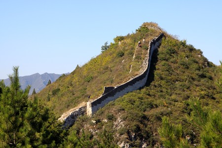 the original ecology of the great wall pass in north china Stock Photo - 8147311