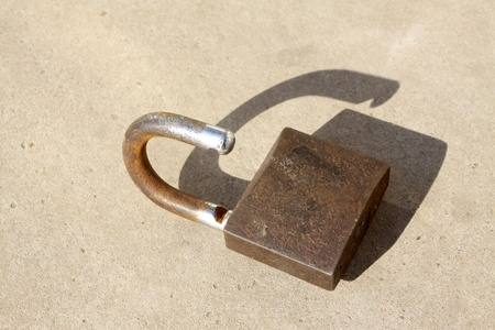 close up of rusty lock, give a person a kind of nostalgic feeling  photo