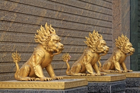 close up of golden statue