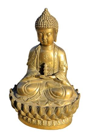 closeup of buddhism bodhisattva statues  Stock Photo
