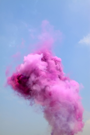 colored smoke in the sky Stock Photo - 8819634
