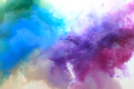 colored smoke in the sky Stock Photo - 8809626