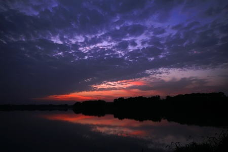 waterside: waterside sunset - very beautiful scenery Stock Photo