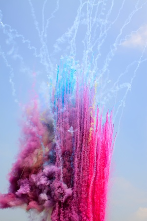 colored smoke in the sky Stock Photo - 8819864