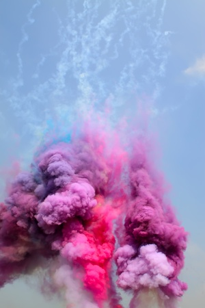 colored smoke in the sky Stock Photo - 8821805
