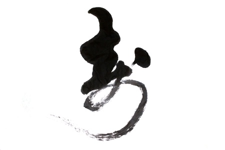 traditional chinese calligraphy on a white background photo