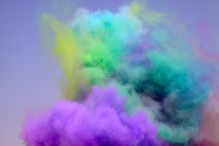 diffuse: colored smoke in the sky