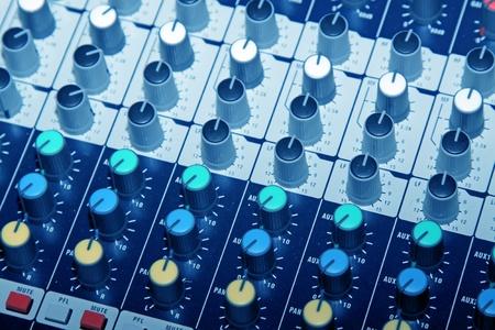 calibration: close up of acoustics knob in a music studio