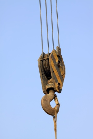 sling: crane sling under the blue sky