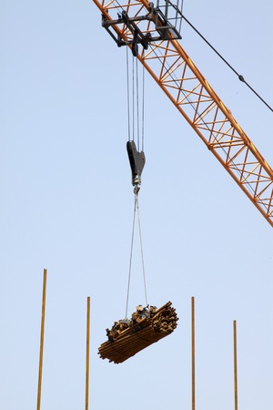 crane tower at the construction site Stock Photo - 10099122